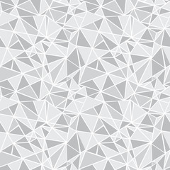 Vector Silver Grey Geometric Mosaic Triangles Repeat Seamless Pattern Background. Can Be Used For Fabric, Wallpaper, Stationery, Packaging.