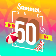 Summer sales and special discounts