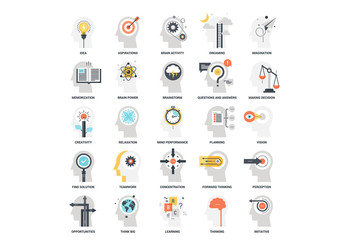25 Mental Process Icons 6