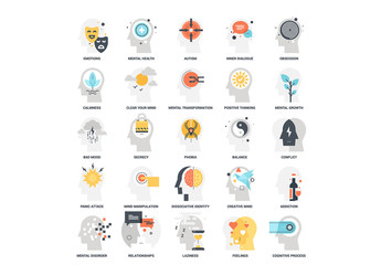 25 Mental Process Icons 7