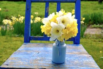 Grußkarte - Blumenstrauß - Narzissen - Osterglocken