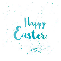 Happy Easter greeting card with lettering