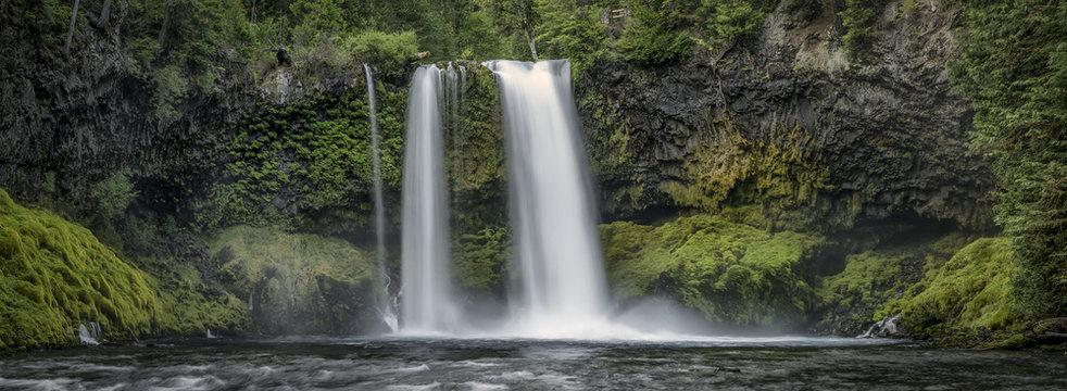Koosah Falls Waterfall - Willamette National Forest - Oregon
