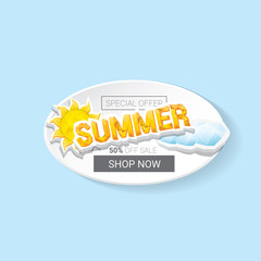 vector summer sale template banner.