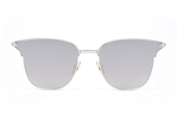 women's sunglasses with gray glass isolated on white
