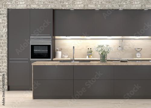 Küche Einbauküche Küchenzeile Kücheblock Kochinsel\