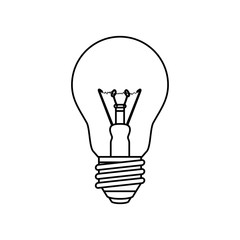 light bulb electric incandescent vector icon illustration