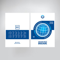 Cover design for catalogue, brochure, booklet. Graphic template for posting photos and text for presentations, business conferences. Сover layout of annual report. Business folders design, vector.