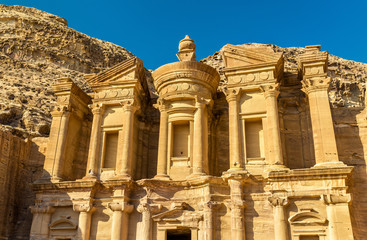 Ad Deir, the Monastery at Petra. UNESCO heritage site