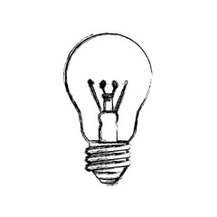 light bulb electric incandescent vector icon illustration
