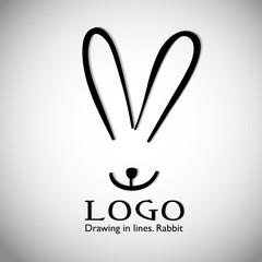 Rabbit Logo Template Design.