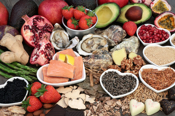 Healthy Aphrodisiac Food and Herbal Medicine. To promote sexual health.