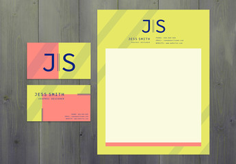 Modern Business Card and Letterhead