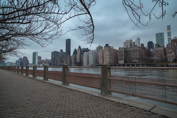 Manhattan view from Roosevelt island