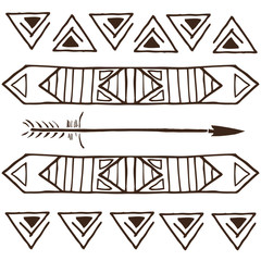 Vector tribal patterns, ethnic cards for design