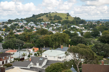 Scenery view of Mount Victoria the famous view point in Devonport island of Auckland, New Zealand.