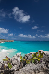 Bottom Bay is one of the most beautiful beaches on the Caribbean island of Barbados.