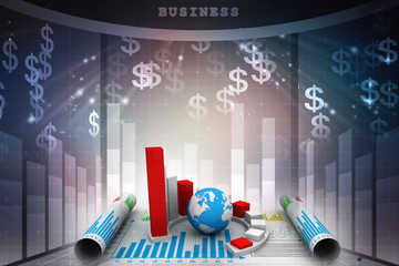 Stock market online business concept. business Graph