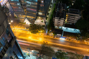 Top view of cityscape in Bangkok city