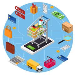 E-commerce Concept. Vector