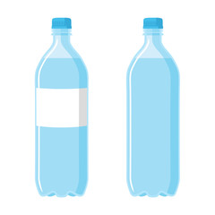 Plastic Blue Bottle. Set