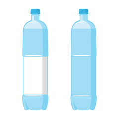Plastic Blue Bottles. Set