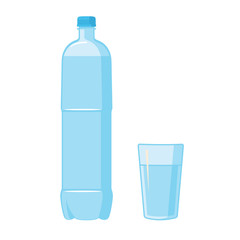 Plastic Bottle. Glass