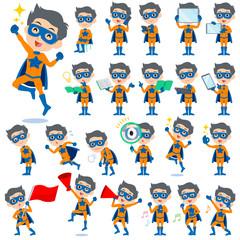 super hero man orange Blue 2