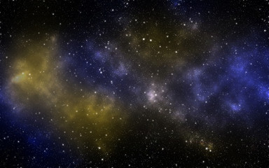 Space Galaxy Background with nebula, stardust and bright shining stars.