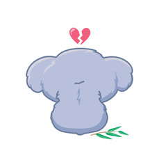 Koala with a broken heart