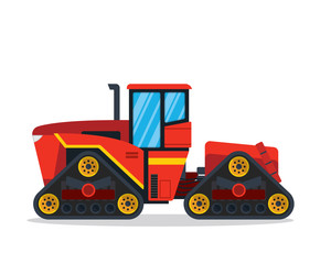 Modern Agriculture Farm Vehicle - Huge Track Tractor