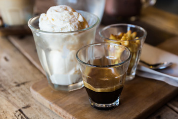 Coffee Affogato, Espresso coffee.