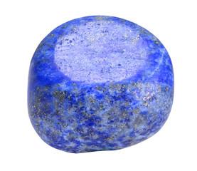 Lazurite - lapis lazuli stone isolated on white background