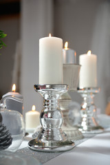 Candles on a stand