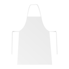 White blank apron isolated. Place for your brand logo or design. Vector illustration
