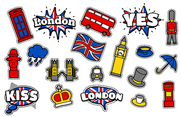 Fashion Patch Badges with London's Symbols