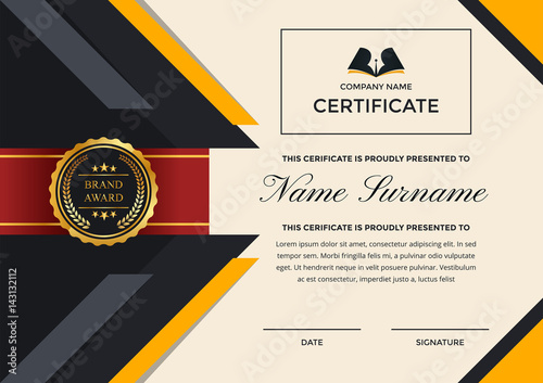 Modern premium company certificate of achievement and appreciation modern premium company certificate of achievement and appreciation template with logo yadclub Gallery