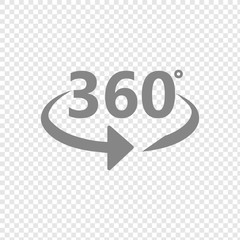 Angle 360 degrees sign icon. Vector 10