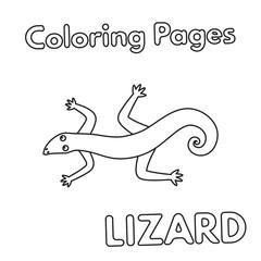 Cartoon Lizard Coloring Book