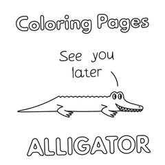 Cartoon Alligator Coloring Book