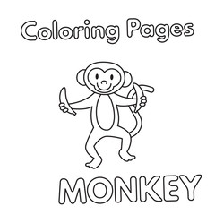 Cartoon Monkey Coloring Book
