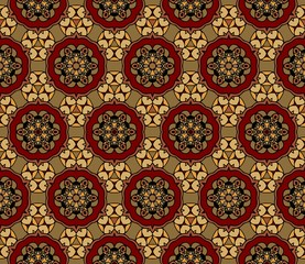 background abstract floral symmetrical pattern colorful folklore