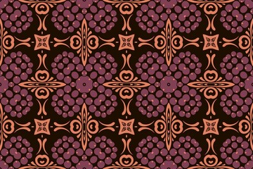 abstract symmetrical pattern of ethnic elements geometric shapes of modern design