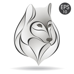 Wolf head logo. Stock vector