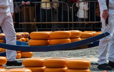 Gouda cheese market, Holland