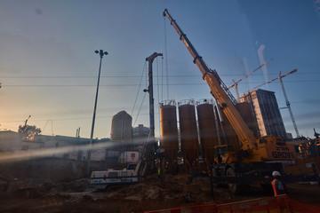 Tel-Aviv - 9 December, 2016: Construction zone in tel aviv