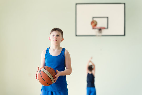 A boy with the ball
