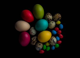 Easter Eggs celebration, color, decorative, design, group, holiday, objects, colorful
