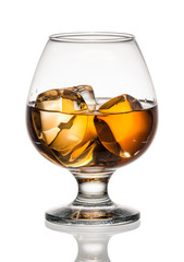 Wall Mural - Brandy or whiskey in a glass