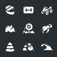 Vector Set of ATV Icons.